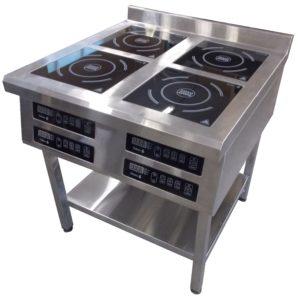 Индукционная плита 4-х конфорочная напольная 2,2 кВт или 3,5 кВт (800х800х850, 800х900х850) купить в Днепре