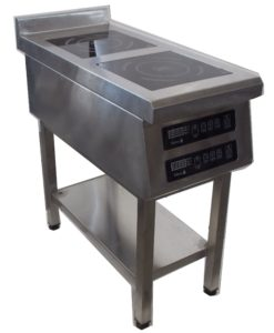 Индукционная плита 2-х конфорочная напольная 2,2 кВт или 3,5 кВт (400х800х850, 400х900х850) купить в Днепре